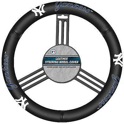 Fremont Die Mlb Leather Steering Wheel Cover New York Yankees