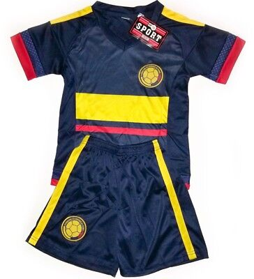 best sneakers 18820 e5031 KIDS NAVY COLOMBIA National Soccer Team Jersey & Shorts