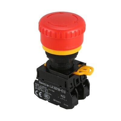 AC 600V 10A Red Sign Mushroom Emergency Stop Push Button Switch A3A1