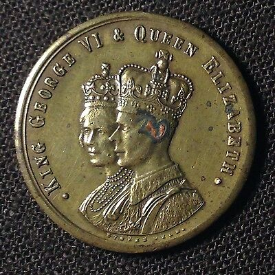KING GEORGE VI & QUEEN ELIZABETH 1937 Coronation Commemorative Medal