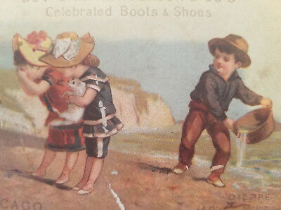 C.M. Henderson & Co. Celebrated Boots and Shoes, I. Albros Victorian Trade Card
