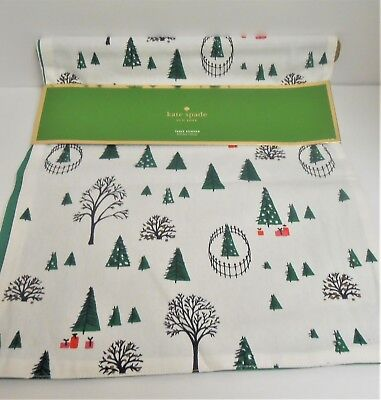 "kate spade New York ""Holiday Village"" Table Runner 15"" x 72"" New"