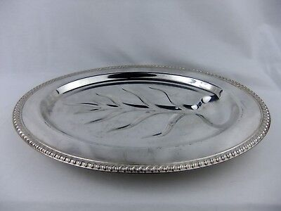 Vintage Wm Rogers Silver Plated Meat Platter