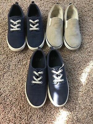 GAP Boys Slip On Sneakers/ Two Pairs Size 2 & One Pairs Size 3