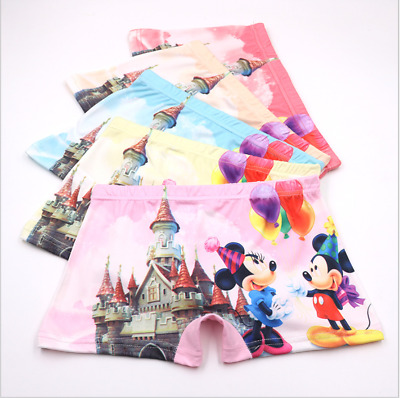 Toddler Kids Girls Minnie Mouse Cartoon Underwear Cotton Children's Boxer Shorts