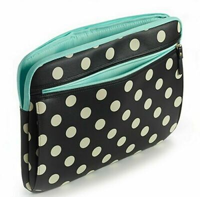 """Studio C Hot to Trot 13-14/"""" Laptop Notebook Sleeve Black White Dots 98657"""
