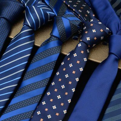 Factory Men's Neck Tie Skinny Slim Silk Necktie Narrow Polka Dot Striped Ties
