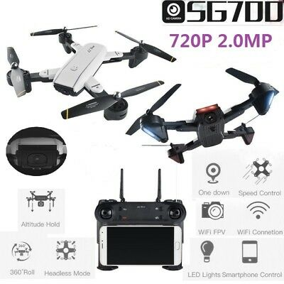 SG700 Foldable RC Quadcopter 2.0MP Wide Angle Dual Camera Wifi FPV 6-Axis Drone