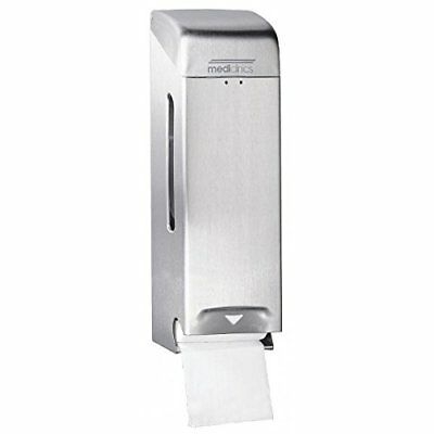 Mediclinics - Disp. Papel Hig. Triple Rollo (Stainless Steel Brushed)