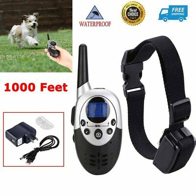 Waterproof 1000 Yard Dog Shock Training Collar Pet Dog Trainer With Remote US OY
