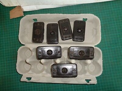 Vintage electrical fittings, brown switches x7  HPM