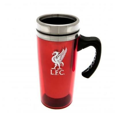 Liverpool Travel Mug Aluminium Cup Crest New Official Licensed Football Product