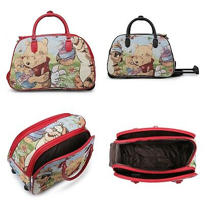 Trolley Holdall Winnie the Pooh Bag Girls Pooh Bear Hand Luggage Travel Handbag