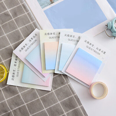 30 Pages Fashion Gradient Sticky Notes Sticker Memo School Office Stationery