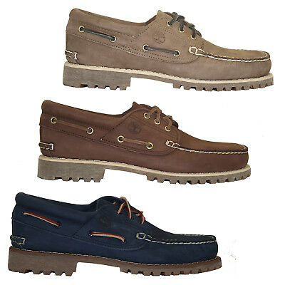 TIMBERLAND AUTHENTICS CLASSIC 3 Eye Lug Boat Shoes Herren