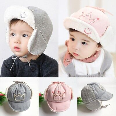 Toddler Kids Baby Boys Girls Winter Warm Hat Thick Ear Protection Cap 10M-4T