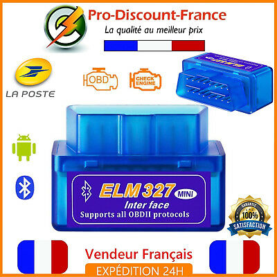 ELM327 Valise Defaut Diagnostic Diagnostique ELM 327 HUD OBDII Bluetooth OBD2