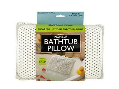 Non-Slip Bath Tub Pillow With Suction Cups Relaxing Hot Cold Warm Spa Shower