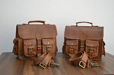 SaddlebagsMotorcycle SideBag 2Pockets Brown Leather Panniers made by JasolCraft