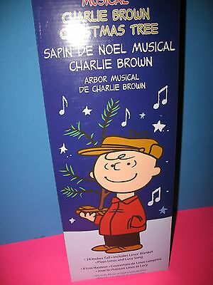 Peanuts Musical Charlie Brown Christmas Tree 24 Inch New Collectible
