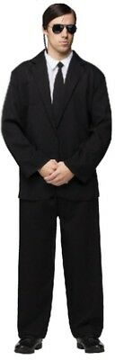 Men In Black Secret Service Black Suit Costume Adult One Size Fits Most