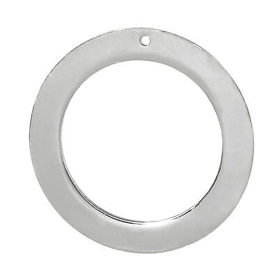 """Stainless Steel Pendants Circle Ring Silver Tone 32mm(1 2/8"""") Dia, 5 PCs"""