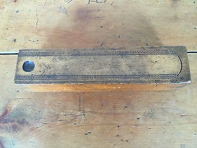 Vintage Wooden Pencil Case/box