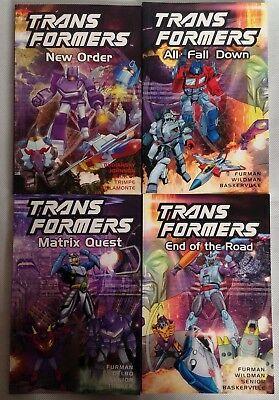 Transformers Comics End of the Road, New Order, All Fall Down, Matrix Quest, Lot