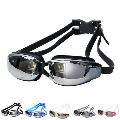 Unisex Waterproof Antifog Coating Myopia Eyewear Goggles Swimming Glasses
