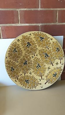 WALL HANGER plate dish  ASIAN  GOLD BIRDS TREE LARGE