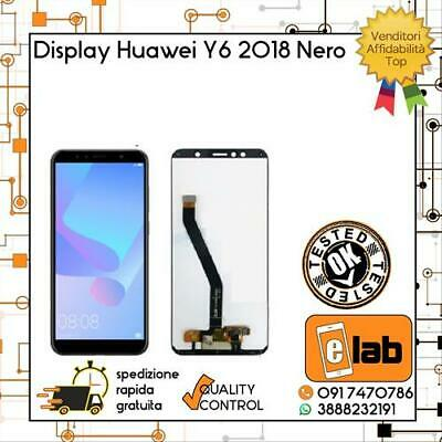 Lcd Display Touch Screen Per Huawei Y6 2018 Nero Atu-L11 Atu-L21 Schermo Vetro