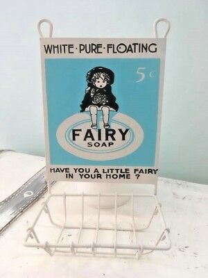 Vintage Retro Style Wall Mounted Fairy Soap Dish / Holder~Bathroom~Kitchen~