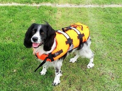 Dog Pet Buoyancy Aid Life Jacket - Swimming & Boating - Sizes S, M, L by Riber