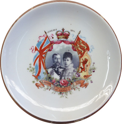1911 KING  GEORGE V and Queen Mary Coronation Plate