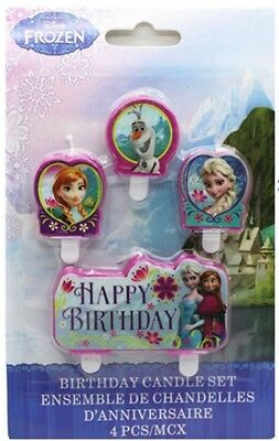 4 Piece Frozen Elsa,Anna&Olaf Cake Candle Set Birthday Party Supplier Decoration