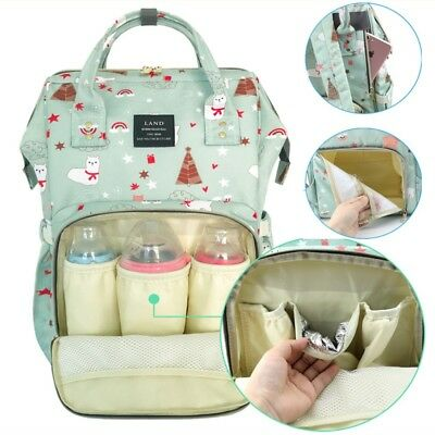 LAND Diaper Mummy Bag Backpack Baby Nappy Organizer Large Changing Travel Bags