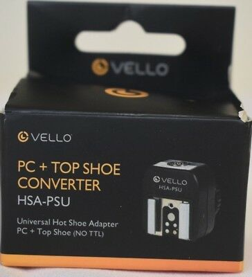 Vello Universal Hot Shoe Adapter - PC Connection + Top Shoe