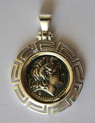 ALEXANDER THE GREAT GREEK COIN BIG SIZE sterling silver 925 code 31