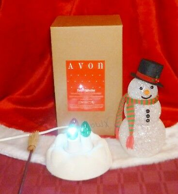Vintage Avon Christmas CHILLY SAM Light Up Snowman in the Original Box
