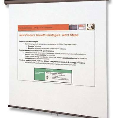 """New Quartet 96"""" x 96"""" Wall or Ceiling Mount Projection Screen - Free Shipping"""