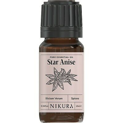 Star Anise Essential Oil 100% Pure - 10ml, 20ml, 30ml, 50ml, 100ml, 200ml Nikura