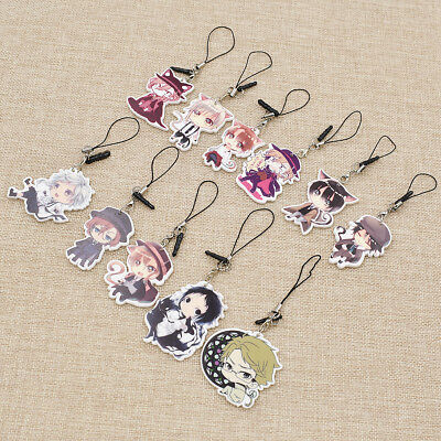 Bungo Stray Dogs Keychain Japanese Anime Character Pendant Drop Student Decor