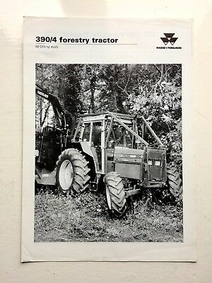 Massey Ferguson 390/4 Forestry Tractor Brochure & Technical Specifications 1992