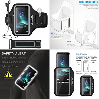 Galaxy S8/S9 Plus Note 8 Armband JEMACHE Gym Run Workout Arm Band Case For Sam