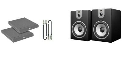 Soundsation Clarity 8A-Black Kit - Coppia Monitor con Cavi e Pannelli Fonoassorb