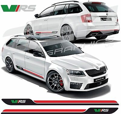 Skoda Octavia VRS side stripes decals stickers graphic any colours