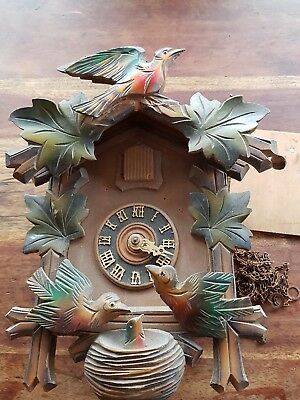 BLACK FOREST   CUCKOO CLOCK / side moving birds /Not working .spares or  repair