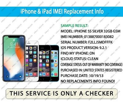 iPhone & iPad Check IMEI Replacement Info