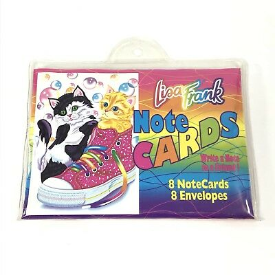 NEW Sealed Vintage Lisa Frank Notecards & Envelopes Cats Kittens Cute!