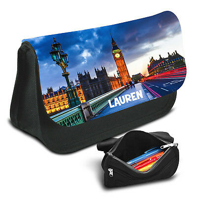 London Personalised Pencil Case Game School Bag Kids Stationary - 01
